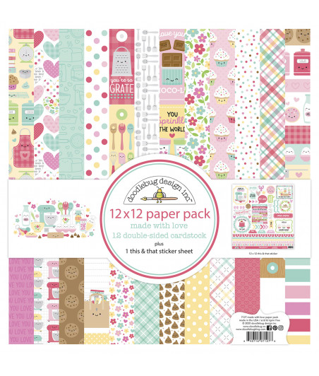 DOODLEBUG - Design Made With Love - 30x30 Inch Paper Pad