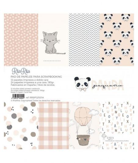"""RITA RITA - Panda Rosa Blocco 12""""x12"""""""