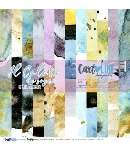 CartoLINE - Il colore dei sogni by Erica Nicomedi 12''x12''