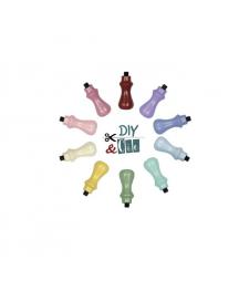 Diy&Cie - Maniglia per testa in ottone: Colori assortiti