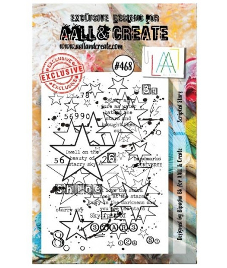 AALL & CREATE - Stamp Set - 468 - Stamp A7 Scripted Stars
