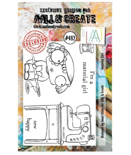 AALL & CREATE - Stamp Set - 482 - Stamp A7 Material Girl