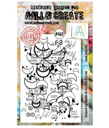 AALL & CREATE - 460 Stamp A6 Lined Crescents