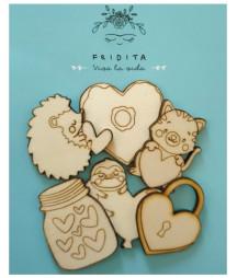 FRIDITA - Siluetas de Madera IN LOVE