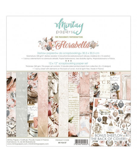 MINTAY BY KAROLA - Florabella - 12x12  Pad Collection Kit