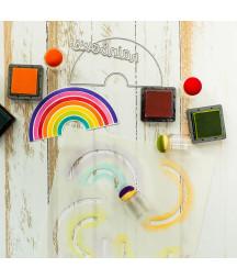 HEFFY DOODLE - Rainbow Builder Stencil