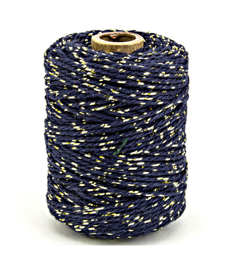VIVANT - Twine 2 mm x 50 m - gold / dark blue