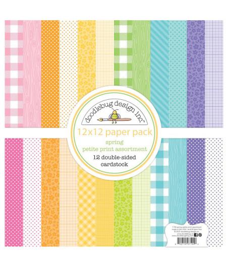 DOODLEBUG Design - Spring 12x12 Inch Petite Print Paper Pack