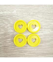 Dischi piccoli 2,3 cm - Giallo
