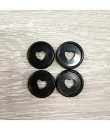 Dischi piccoli 2,3 cm - Nero