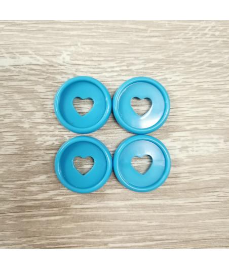 Dischi piccoli 2,3 cm - Celeste