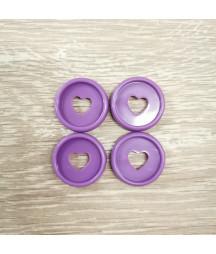 Dischi piccoli 2,3 cm - Viola