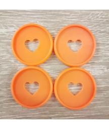Dischi grandi 3,5 cm - Arancio