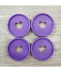 Dischi grandi 3,5 cm - Viola