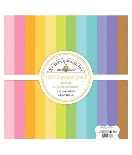 DOODLEBUG Design - Spring 12x12 Inch Textured Cardstock Paper Pack