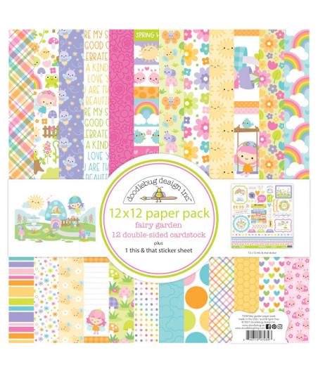 DOODLEBUG - Fairy Garden - 30x30 Inch Paper Pad