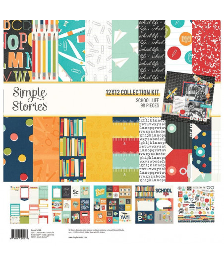 """SIMPLE STORIES - School Life - Collection Kit 12""""x12"""""""