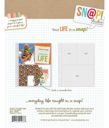 SIMPLE STORIES - Pocket Pages - Snap! - 3x4 / 4x6 refills