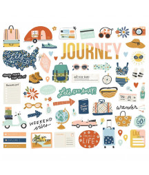 SIMPLE STORIES - Safe Travels  - Bits & Pieces