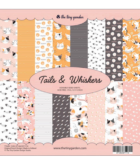 THE TINY GARDEN - Tails & Whiskers - 12x12  Pad Collection Kit