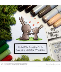 MY FAVORITE THINGS  - Clear Stamp - Bunny Wishes
