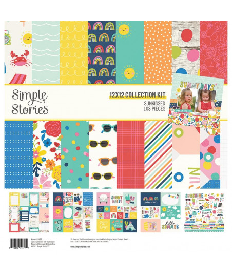 """SIMPLE STORIES - Sunkissed - Collection Kit 12""""x12"""""""