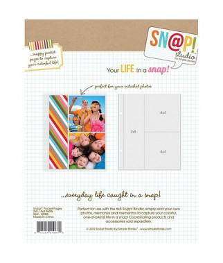 SIMPLE STORIES - Pocket Pages - Snap! - 2x8 4x4 refill