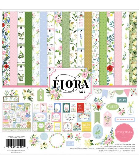 CARTA BELLA - Flora No.4 12x12  Pad Collection Kit