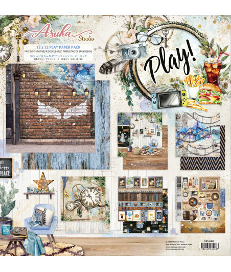 MEMORY PLACE  - Play! 12x12 Inch Paper Pack