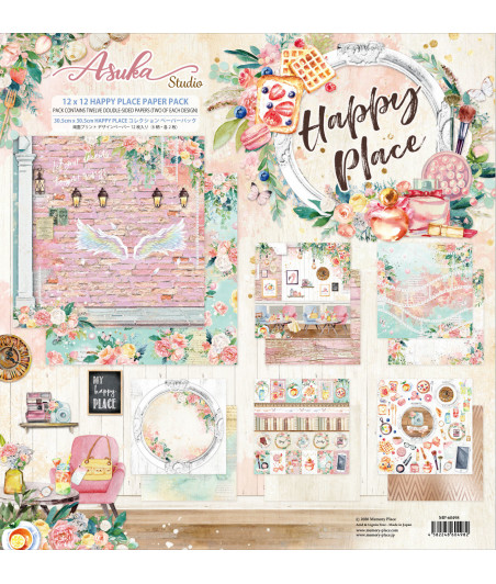 MEMORY PLACE - Happy Place 12x12 Inch Paper Pack