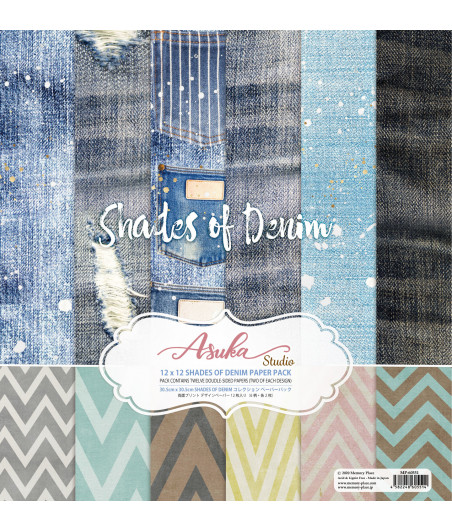 MEMORY PLACE - Shades of Denim 12x12 Inch Paper Pack