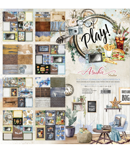 MEMORY PLACE - Play! 12x12 Inch Journaling Cards Paper Pack