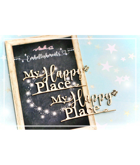 MEMORY PLACE - My Happy Place Embellishment Chipboard (2pcs)