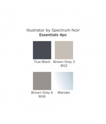 SPECTRUM NOIR - Illustrator Essentials (4pcs)