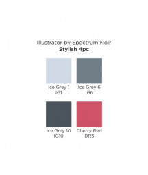 SPECTRUM NOIR - Illustrator Stylish (4pcs)