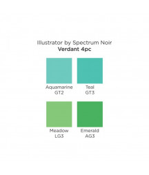 SPECTRUM NOIR - Illustrator Verdant (4pcs)