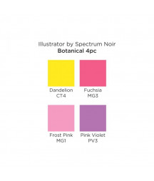 SPECTRUM NOIR - Illustrator Botanical (4pcs)
