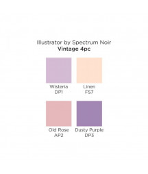 SPECTRUM NOIR -  Illustrator Vintage (4pcs)