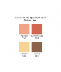 SPECTRUM NOIR - Illustrator Natural (4pcs)