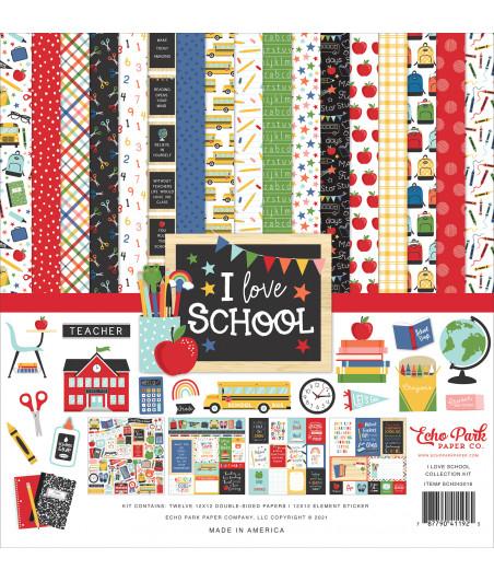 ECHO PARK - I Love School 12x12  Pad Collection Kit