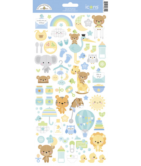 DOODLEBUG Design - Special Delivery Icons Stickers