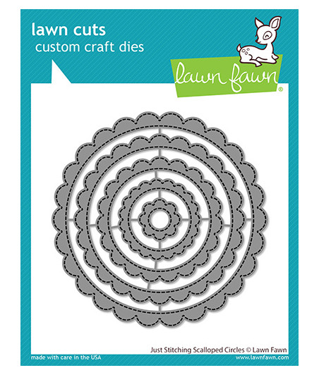 LAWN FAWN - Just Stitching Scalloped Circles Dies