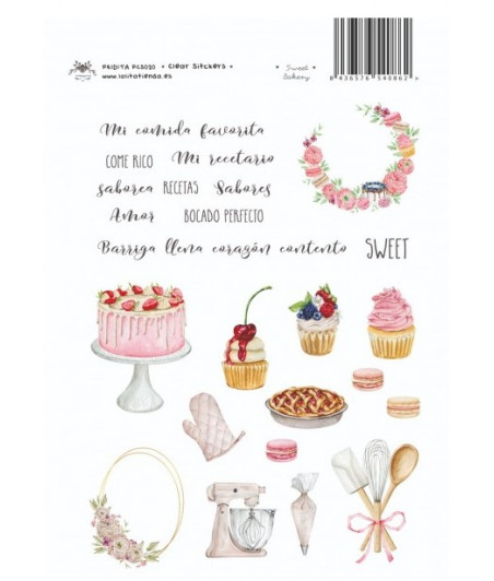 FRIDITA - Clear Stikers SWEET BAKERY
