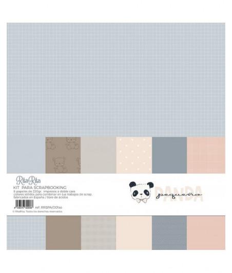 """RITA RITA - Panda Rosa Kit 6 carte 220gr 12""""x12"""""""