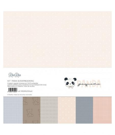 """RITA RITA - Panda Rosa Kit 6 carte vellum 12""""x12"""""""