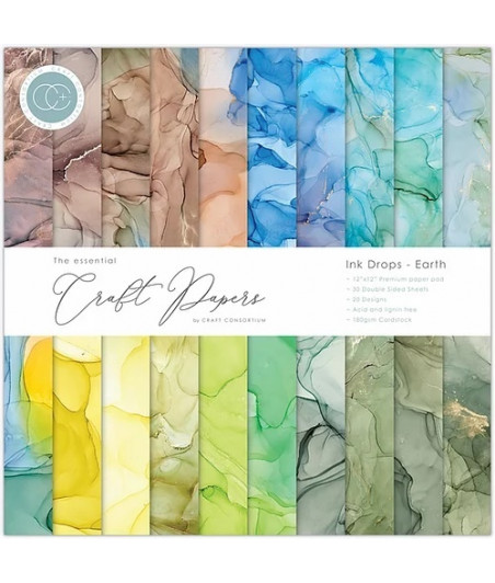 THE ESSENTIAL CRAFT PAPERS - Earth - 12X12 Inch Paper Pad