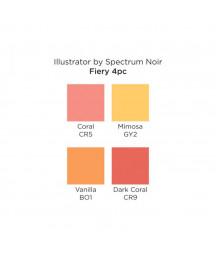 SPECTRUM NOIR - Illustrator  Fiery (4pcs)