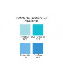 SPECTRUM NOIR - Illustrator  Aquatic (4pcs)