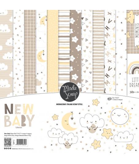 "MODASCRAP - PAPER PACK NEW BABY 12x12"""