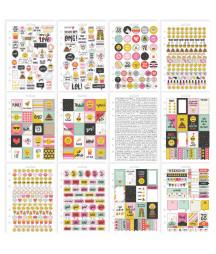 SIMPLE STORIES - Carpe Diem Emoji Love Collection Stickers